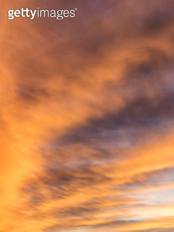 Full frame of the low angle view of clouds of colors in sky during sunset. Valencian Community, Spain - gettyimageskorea