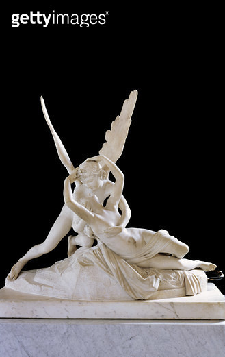 <b>Title</b> : Psyche Revived by the Kiss of Love, 1787 (marble) (for detail see 27638) (see also 154097)<br><b>Medium</b> : marble<br><b>Location</b> : Louvre, Paris, France<br> - gettyimageskorea