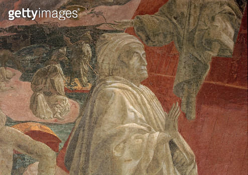 <b>Title</b> : The Flood and Subsidence of the Waters and the Sacrifice and Drunkenness of Noah, detail of a praying figure, lunette (fresco)<br><b>Medium</b> : fresco<br><b>Location</b> : Santa Maria Novella, Florence, Italy<br> - gettyimageskorea
