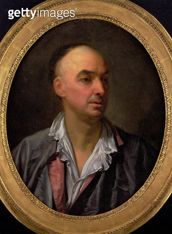 <b>Title</b> : Portrait of Denis Diderot (1713-84) (oil on canvas)<br><b>Medium</b> : <br><b>Location</b> : Private Collection<br> - gettyimageskorea
