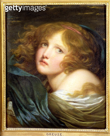 <b>Title</b> : Head and Shoulders of a Young Woman<br><b>Medium</b> : <br><b>Location</b> : Private Collection<br> - gettyimageskorea