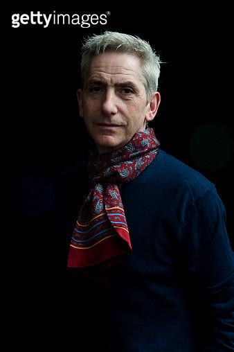Studio portrait of mature gray haired man. - gettyimageskorea