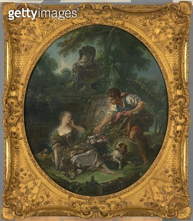 <b>Title</b> : The Mysterious Basket, 1748 (oil on canvas)<br><b>Medium</b> : oil on canvas<br><b>Location</b> : National Gallery of Victoria, Melbourne, Australia<br> - gettyimageskorea