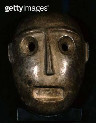 Mask from Colima/ Mexico/ Late Pre-Classic/ c.400-200 BC (stone) - gettyimageskorea