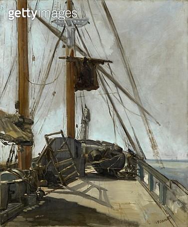 <b>Title</b> : The Ship's Deck, c.1860 (oil on canvas)<br><b>Medium</b> : oil on canvas<br><b>Location</b> : National Gallery of Victoria, Melbourne, Australia<br> - gettyimageskorea