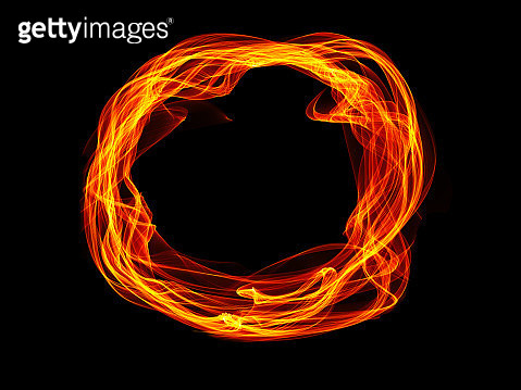 Abstract motion fire background, shining lights, energy waves and sparkling fireworks style particles - gettyimageskorea