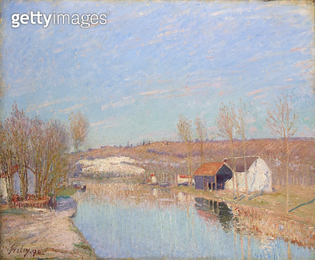 <b>Title</b> : The Loing and the Slopes behind St. Nicaise, February Afternoon, 1890 (oil on canvas)<br><b>Medium</b> : oil on canvas<br><b>Location</b> : National Gallery of Victoria, Melbourne, Australia<br> - gettyimageskorea