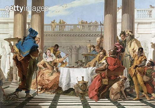 <b>Title</b> : The Banquet of Cleopatra, c.1743-44 (oil on canvas)<br><b>Medium</b> : oil on canvas<br><b>Location</b> : National Gallery of Victoria, Melbourne, Australia<br> - gettyimageskorea