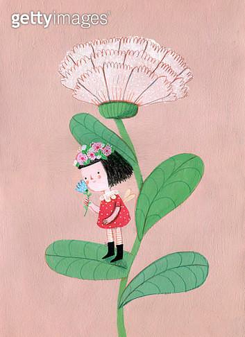 A flower fairy - gettyimageskorea