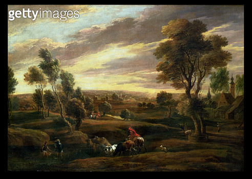 <b>Title</b> : Extensive wooded landscape<br><b>Medium</b> : <br><b>Location</b> : Private Collection<br> - gettyimageskorea