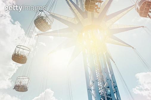 Ferris Swing in the sun - gettyimageskorea
