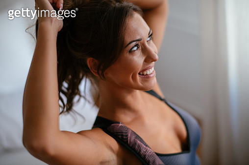 Beautiful woman ready for workout - gettyimageskorea