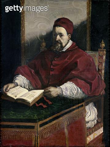 <b>Title</b> : Pope Gregory XV (1554-1623) (oil on canvas)<br><b>Medium</b> : <br><b>Location</b> : Musee de Picardie, Amiens, France<br> - gettyimageskorea