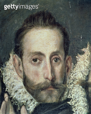 <b>Title</b> : Self Portrait, detail from The Burial of Count Orgaz, 1586-88 (oil on canvas)<br><b>Medium</b> : <br><b>Location</b> : Sto Tome, Toledo, Spain<br> - gettyimageskorea