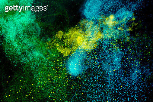Colored powder motion - gettyimageskorea