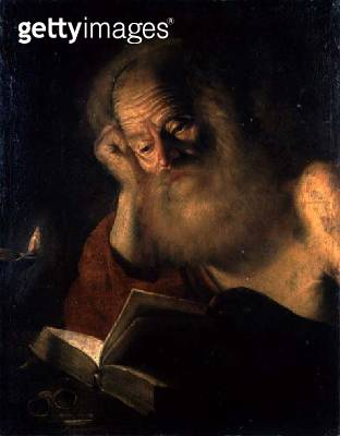 <b>Title</b> : St. Jerome (oil on canvas)<br><b>Medium</b> : oil on canvas<br><b>Location</b> : Private Collection<br> - gettyimageskorea
