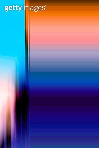 Vertical Blue And Orange Design. - gettyimageskorea