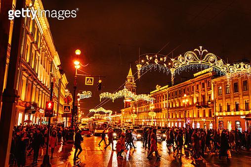 Nevsky Street at St. Petersburg, Russia - gettyimageskorea