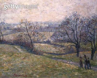 <b>Title</b> : Epping, April (oil on canvas)Additional Infoforged signature of Camille Pissarro;<br><b>Medium</b> : oil on canvas<br><b>Location</b> : Private Collection<br> - gettyimageskorea