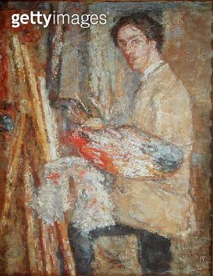 <b>Title</b> : Self Portrait, 1879 (oil on canvas)<br><b>Medium</b> : oil on canvas<br><b>Location</b> : Galleria degli Uffizi, Florence, Italy<br> - gettyimageskorea