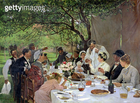 <b>Title</b> : The Wedding Meal at Yport, 1886 (oil on canvas)<br><b>Medium</b> : oil on canvas<br><b>Location</b> : Musee des Beaux-Arts, Rouen, France<br> - gettyimageskorea