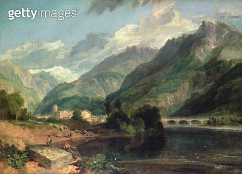 Bonneville/ Savoy with Mont Blanc - gettyimageskorea