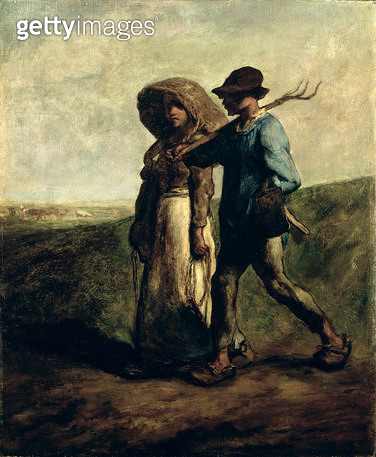 <b>Title</b> : Going to Work, c.1850-51 (oil on canvas)<br><b>Medium</b> : oil on canvas<br><b>Location</b> : Art Gallery and Museum, Kelvingrove, Glasgow, Scotland<br> - gettyimageskorea