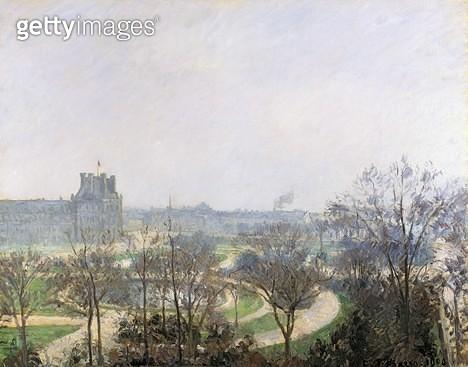 <b>Title</b> : Tuileries Gardens, 1900 (oil on canvas)<br><b>Medium</b> : oil on canvas<br><b>Location</b> : Art Gallery and Museum, Kelvingrove, Glasgow, Scotland<br> - gettyimageskorea