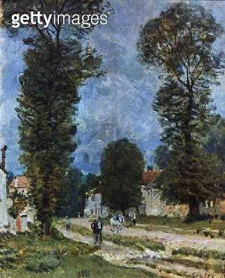 <b>Title</b> : The Road to Marly-le-Roi, or The Road to Versailles, 1875 (oil on canvas)<br><b>Medium</b> : oil on canvas<br><b>Location</b> : Musee d'Orsay, Paris, France<br> - gettyimageskorea
