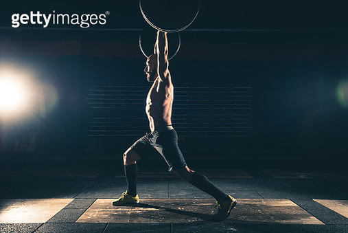 weightlifting strong man on a gym - gettyimageskorea