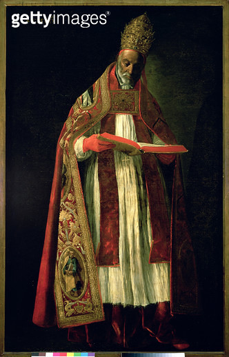<b>Title</b> : St. Gregory the Great (c.540-604) (oil on canvas)<br><b>Medium</b> : oil on canvas<br><b>Location</b> : Museo de Bellas Artes, Seville, Spain<br> - gettyimageskorea