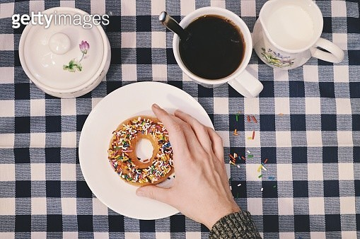 Directly Above Shot Of Breakfast On Table - gettyimageskorea