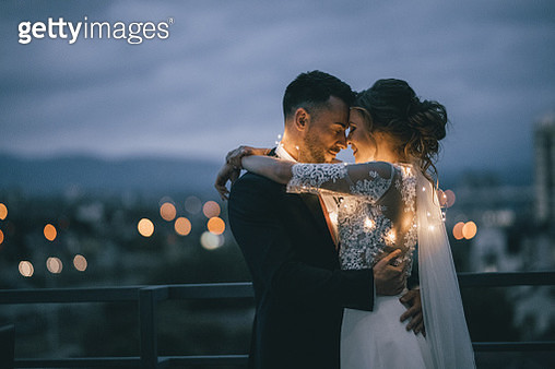 Bride and Groom enjoying in their love - gettyimageskorea