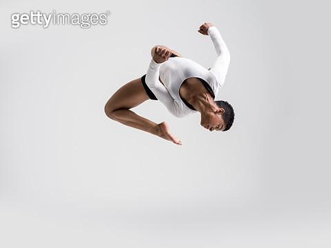 Modern Dancer dancing in studio - gettyimageskorea