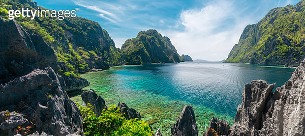 Beautiful day at El Nido, Philippines. High resolution panorama - gettyimageskorea