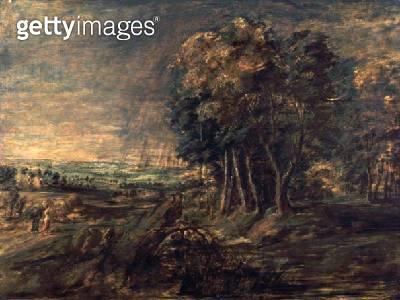 <b>Title</b> : Landscape After the Storm (oil on canvas)<br><b>Medium</b> : oil on canvas<br><b>Location</b> : Samuel Courtauld Trust, Courtauld Institute of Art Gallery<br> - gettyimageskorea