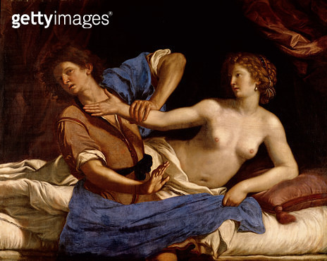 <b>Title</b> : Joseph and the Wife of Potiphar, c.1649 (oil on canvas)<br><b>Medium</b> : oil on canvas<br><b>Location</b> : J & M Ringling Museum of Art, Sarasota, Florida, USA<br> - gettyimageskorea