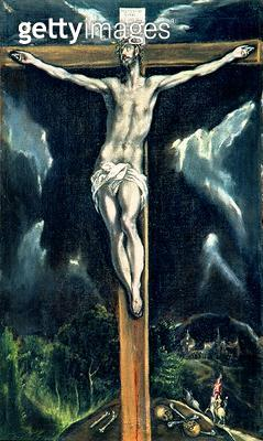 <b>Title</b> : Crucifixion (oil on canvas)<br><b>Medium</b> : <br><b>Location</b> : Casa y Museo del Greco, Toledo, Spain<br> - gettyimageskorea