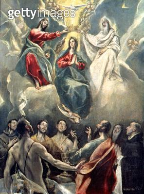 <b>Title</b> : The Coronation of the Virgin (oil on canvas)<br><b>Medium</b> : <br><b>Location</b> : Museo de Santa Cruz, Toledo, Spain<br> - gettyimageskorea