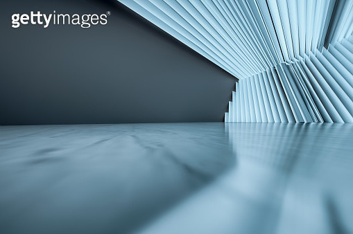 Futuristic empty room - gettyimageskorea