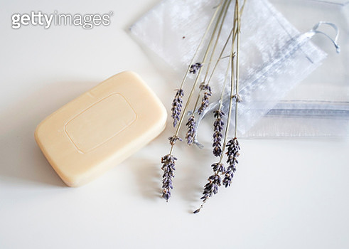 Soap bar with lavender - gettyimageskorea