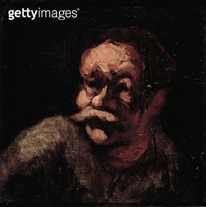 <b>Title</b> : Head of a man (oil on panel)<br><b>Medium</b> : oil on panel<br><b>Location</b> : Musee Marmottan, Paris, France<br> - gettyimageskorea