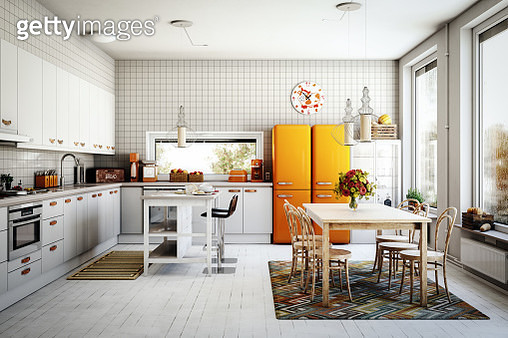 Scandinavian Domestic Kitchen - gettyimageskorea