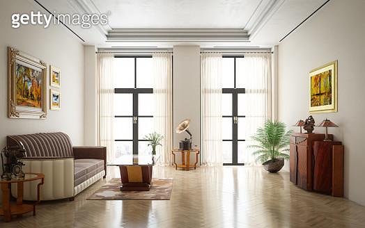 Art Deco Luxury Living Room - gettyimageskorea