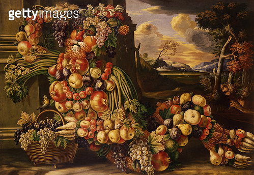 <b>Title</b> : Seated Figure of Summer, 1573 (oil on canvas)<br><b>Medium</b> : oil on canvas<br><b>Location</b> : Ex-Edward James Foundation, Sussex, UK<br> - gettyimageskorea