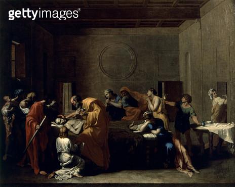 <b>Title</b> : Extreme Unction, c.1638-40<br><b>Medium</b> : oil on canvas<br><b>Location</b> : Belvoir Castle, Leicestershire, UK<br> - gettyimageskorea