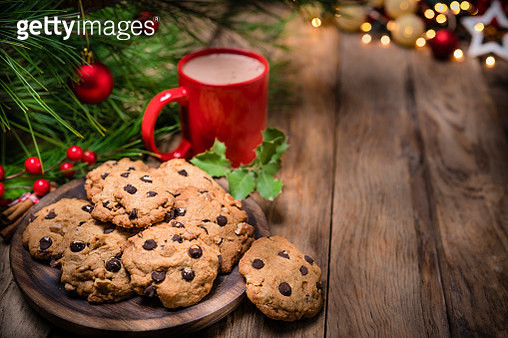 Cookies and hot chocolate for Christmas - gettyimageskorea