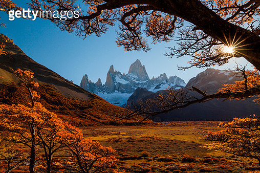 Fitz Roy Mountain at sunset. Patagonia, Argentina - gettyimageskorea
