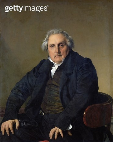 <b>Title</b> : Louis-Francois Bertin (1766-1841) 1832 (oil on canvas)<br><b>Medium</b> : oil on canvas<br><b>Location</b> : Louvre, Paris, France<br> - gettyimageskorea