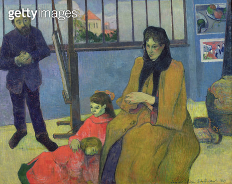 <b>Title</b> : The Schuffenecker Family, or Schuffenecker's Studio, 1889 (oil on canvas)<br><b>Medium</b> : oil on canvas<br><b>Location</b> : Musee d'Orsay, Paris, France<br> - gettyimageskorea